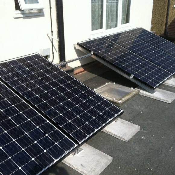 Panasonic panels on flat roof